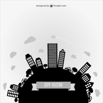 Abstract city vector silhouette