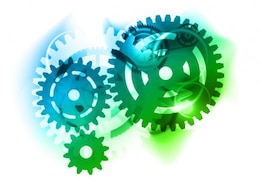 abstract color gears vector graphic