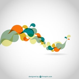 Abstract color swirls vector background