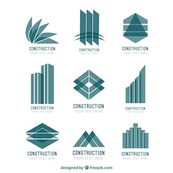 Abstract construction logos