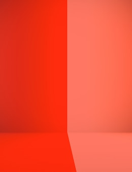 Abstract Contrast Red and orange room backdrop Christmas and valentine layout design.
