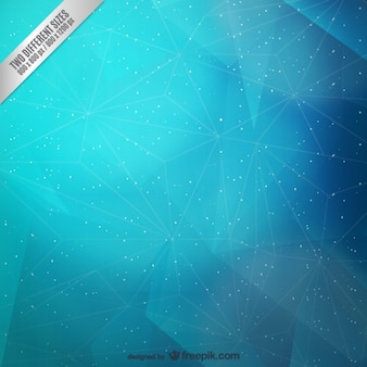 Abstract cyan triangles and stars background