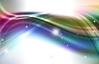 Abstract design background in rainbow colours and stars