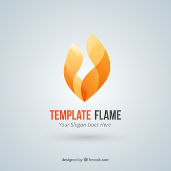 Abstract fire flame logo