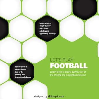 抽象的なサッカーの背景
