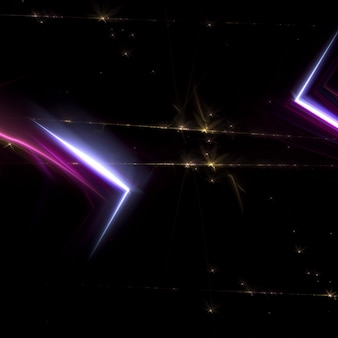 Abstract fractal lights background