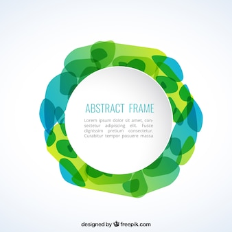 Abstract frame in green tones