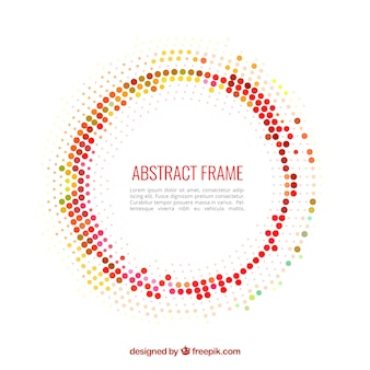 Abstract frame made with dots