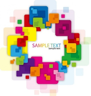 abstract frame with colorful and rounded squares