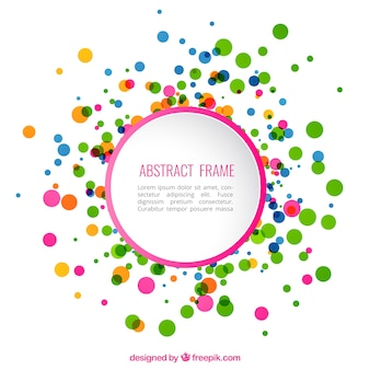 Abstract frame with colorful dots
