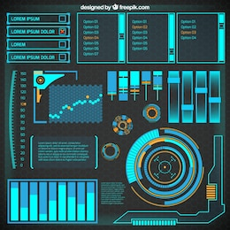 Abstract futuristic infographic