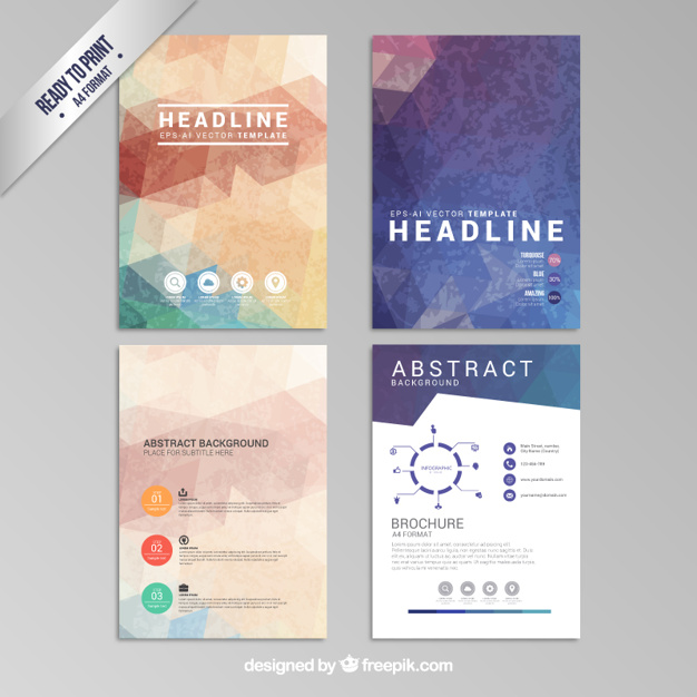 Abstract geometric brochures