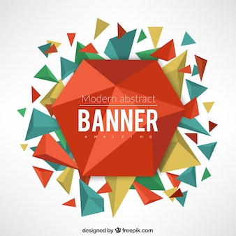 Abstract geometrical banner with triangles