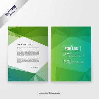 抽象的な緑のパンフレット
