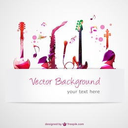 Abstract guitars music vector