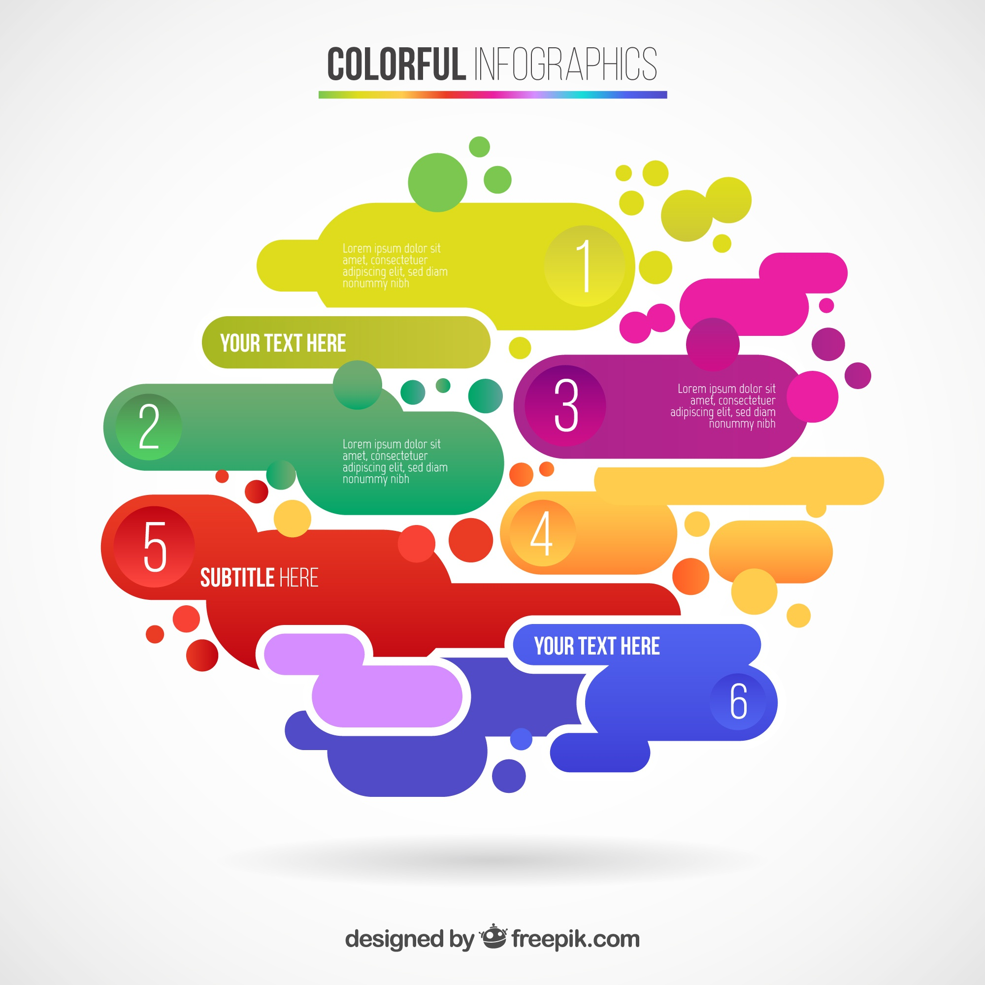 Abstract infographic in colorful style