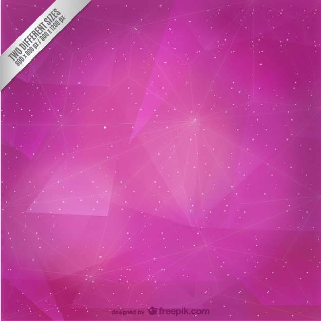 Abstract magenta triangles and stars background