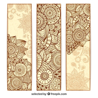 Abstract mandala banners