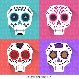 Abstract mexican skulls