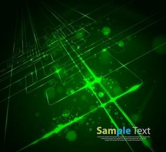 abstract modern virtual technology logo vector