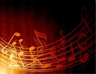 abstract music background vector illustration