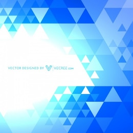 Abstract pattern with blue triangles