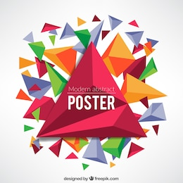 Abstract poster in geometric style