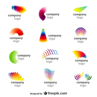 Abstract rainbow vector logos
