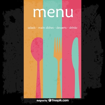 Abstract restaurant menu vector