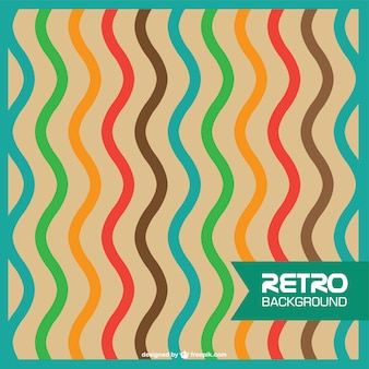 Abstract retro wavy lines