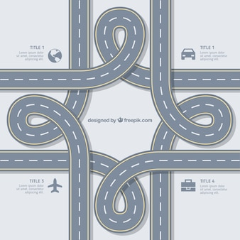 Abstract road infographic