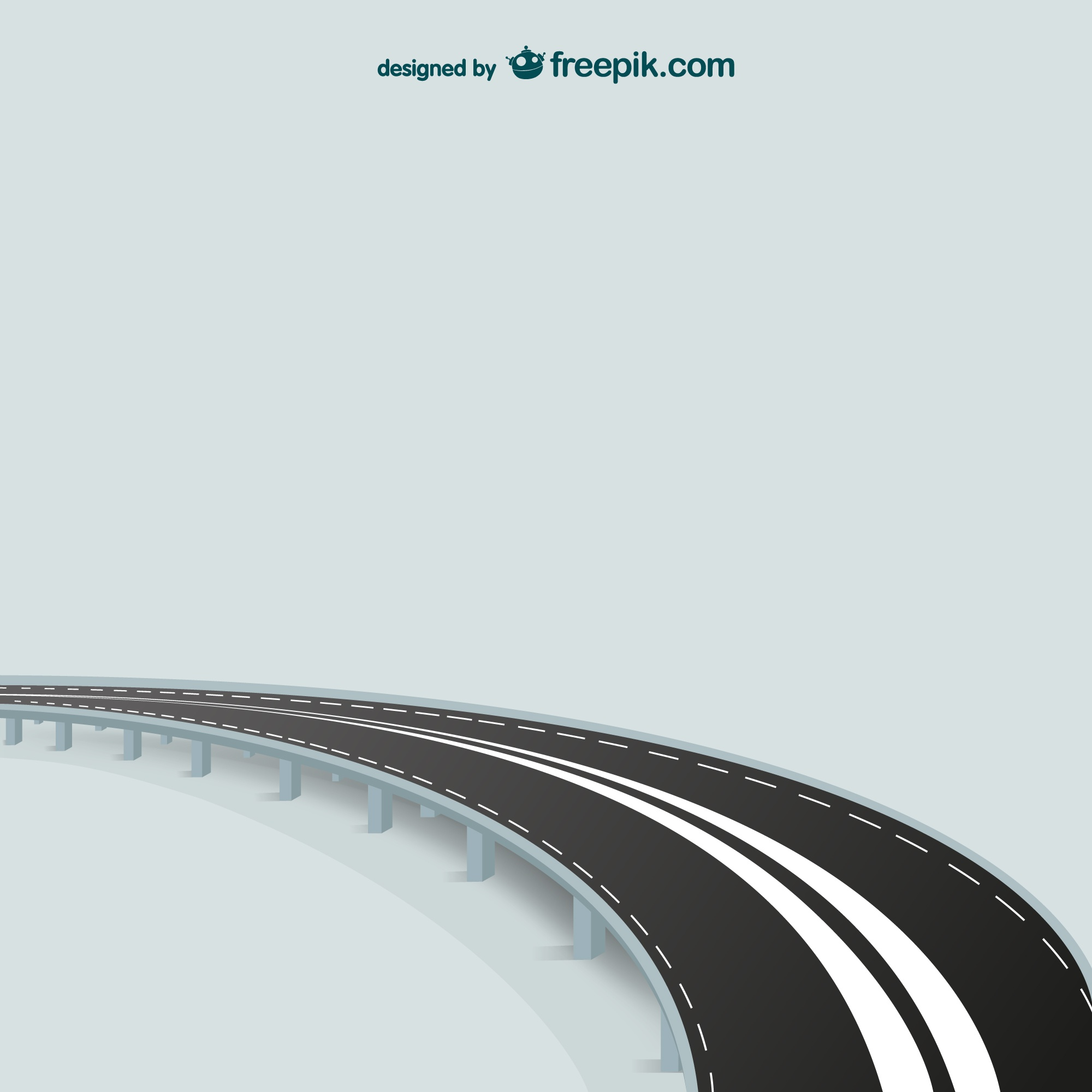 Abstract road vector template