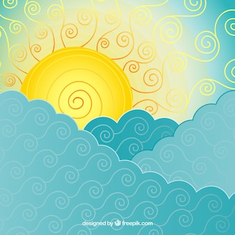 Abstract sea and sun background