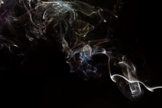 Abstract Smoke, contemplation, mystery