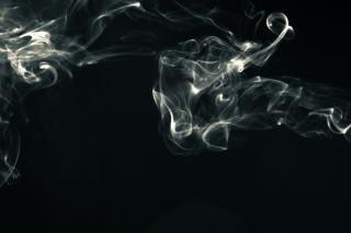 Abstract Smoke, white