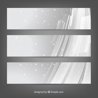 Abstract snowy banners