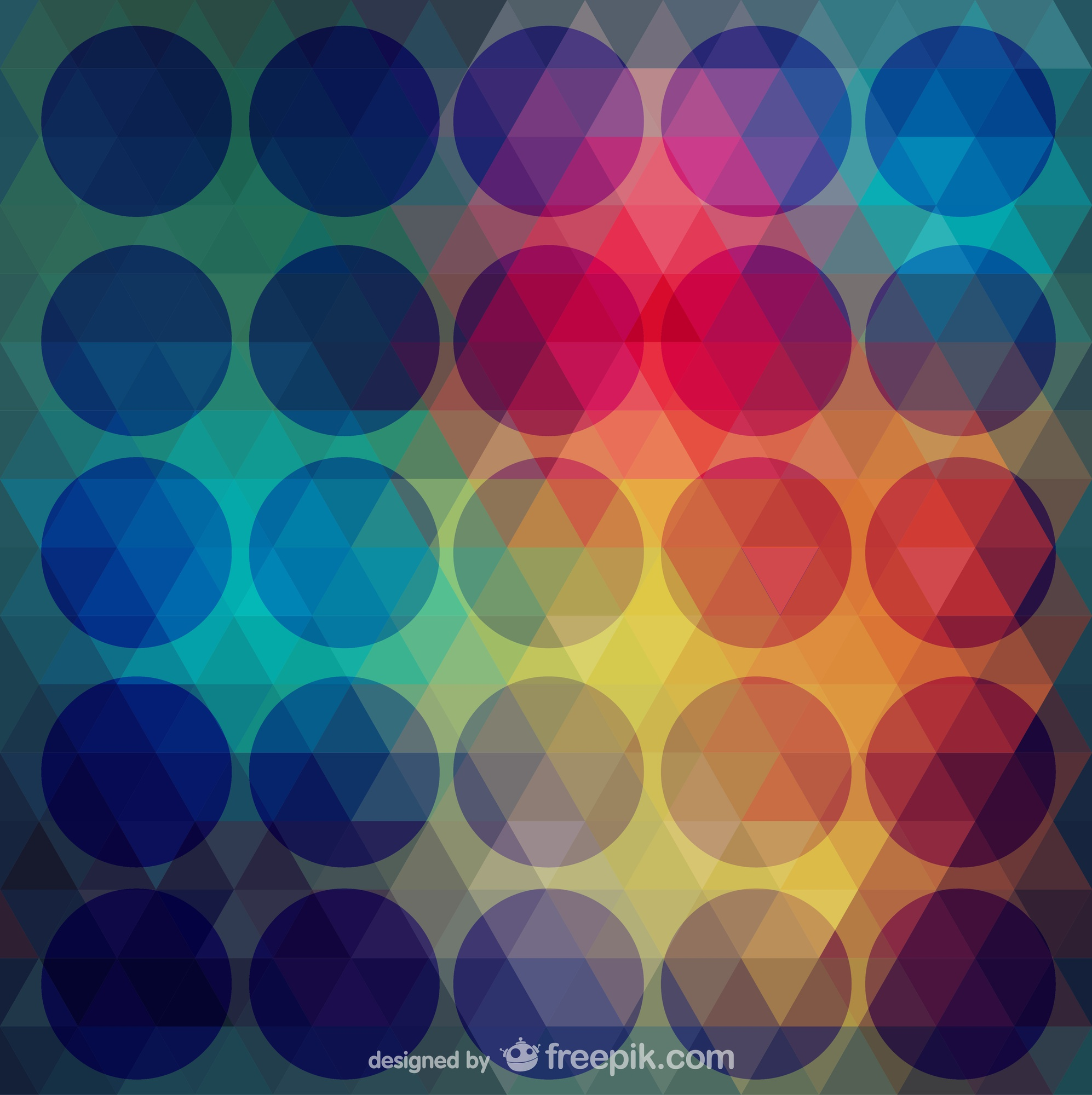 Abstract triangles and circles vector