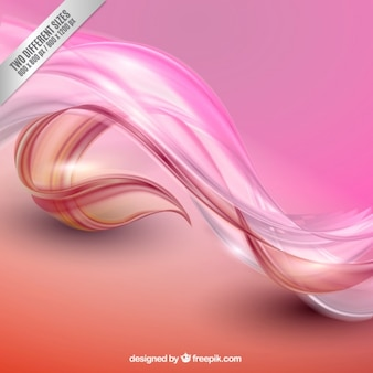 Abstract waves background in pink tones