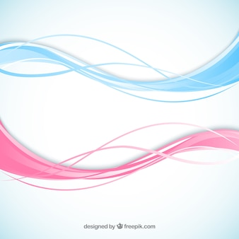 Abstract waves in pink and blue colors