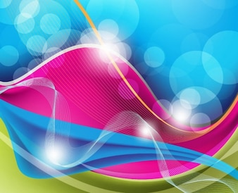 abstract waves vector background