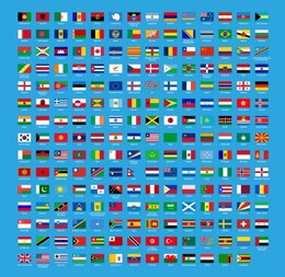 abstract world flag sets vector