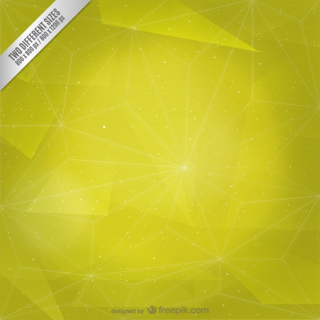 Abstract yellow triangles and stars background