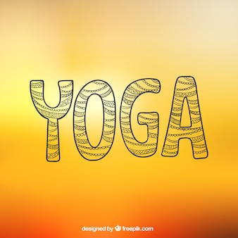 Abstract yoga lettering