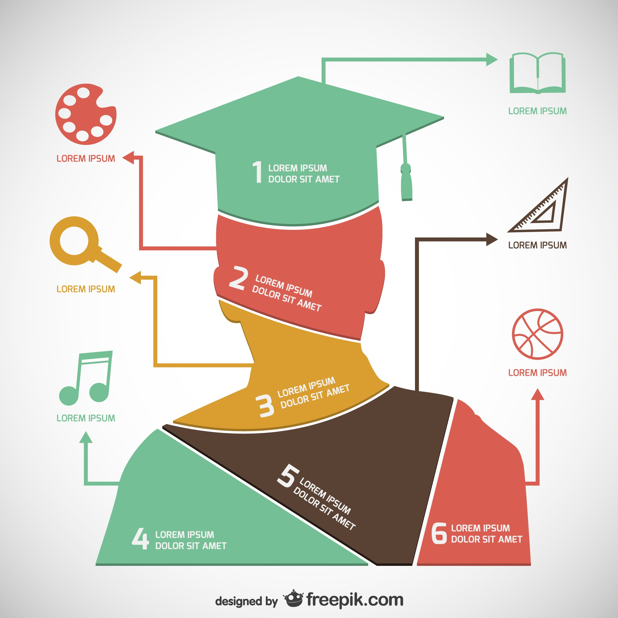 Academic infographic template