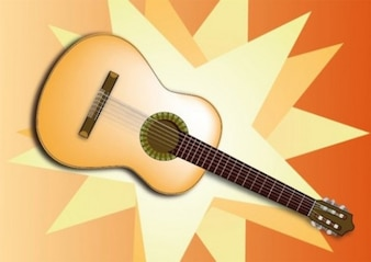 acoustic stylish graphic guitar vector