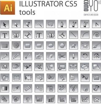 Adobe Illustrator CS5 tools set