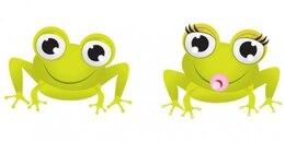 Adorable frogs cartoon graphics vector set