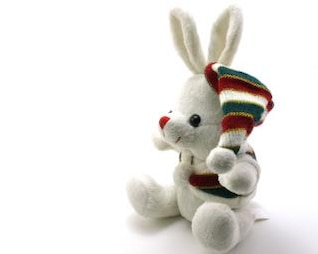 Adorable generic stuffed bunny, animal