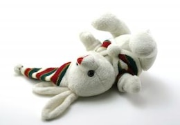 Adorable generic stuffed bunny, sewn