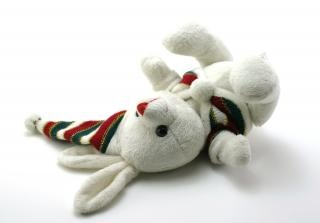 Adorable generic stuffed bunny, sewn